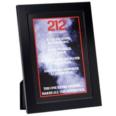 212 The Extra Degree Inspirational Print