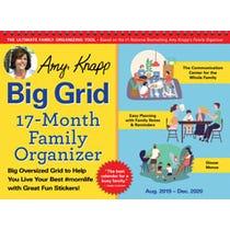 2020 Amy Knapp's Big Grid Family Organizer Wall Calendar