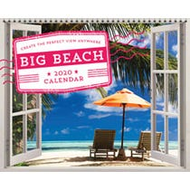 2020 Big Beach Wall Poster Calendar