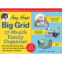 2022 Amy Knapp's Big Grid Family Organizer Wall Calendar