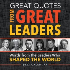 2022 Great Quotes From Great Leaders Boxed Calendar