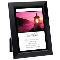 Core Values Framed Inspirational Print