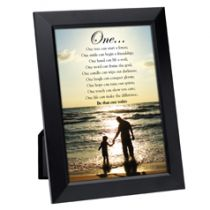 One Framed Inspirational Print