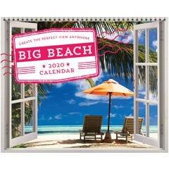 2020 Big Beach Wall Poster Calendar