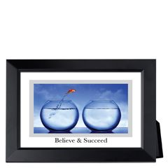 Believe and Succeed Framed Inspirational Print