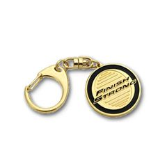 Finish Strong Medallion Key Chain