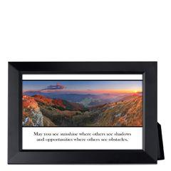 May You See Sunshine Framed Inspirational Print