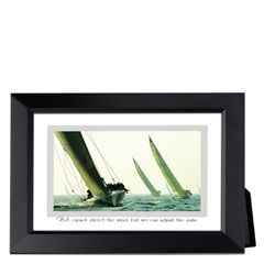 Sailboats Framed Inspirational Print