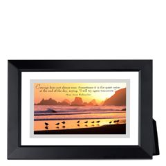 Seagulls at Sunset Framed Inspirational Print