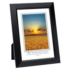 Sunny Wheat Field Framed Inspirational Print