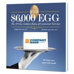 The $6,000 Egg Customized Paperback Book