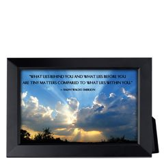 What Lies Behind You Framed Inspirational Print