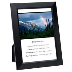 Excellence Is... Framed Inspirational Print