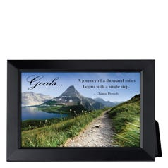 Goals Framed Inspirational Print