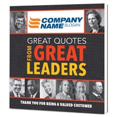 Great Quotes from Great Leaders Customized Paperback Book