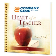 Heart of a Teacher Customized Paperback Book