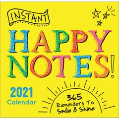 2021 Instant Happy Notes Boxed Calendar