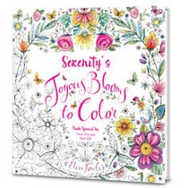 Joyous Blooms to Color Personalized Coloring Book