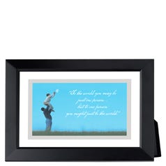 Reach for the Moon Framed Inspirational Print