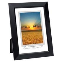 Sunny Wheat Field Framed Inspirational Print