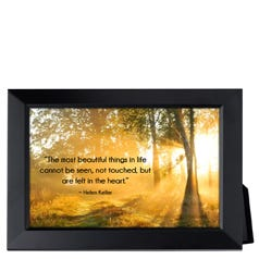 The Most Beautiful Things in Life Framed Inspirational Print