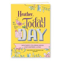 Today Is the Day Personalized Coloring Book