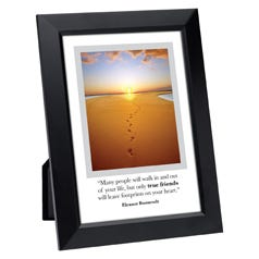 True Friends Leave Footprints Framed Inspirational Print