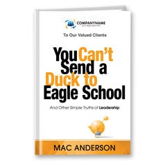You Can't Send a Duck to Eagle School Customized Book