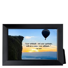 Your Attitude Not Your Aptitude Framed Inspirational Print